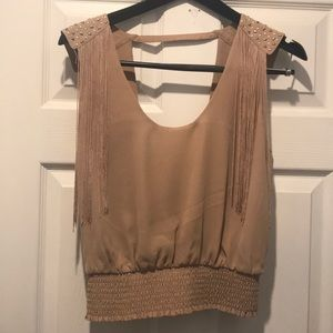 Tan Crop Top